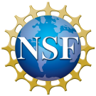 National Science Foundation logo featuring the letters NSF on top of a blue globe