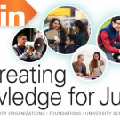 all-in flyer that says cocreating knowledge for justice
