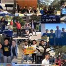 a collage of photos that depict advocacy at the state capitol